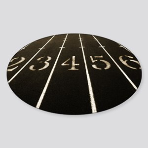 Race Track Numbers In Sepia Tone Sticker